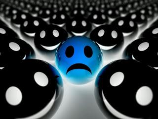 cara triste y caras felices